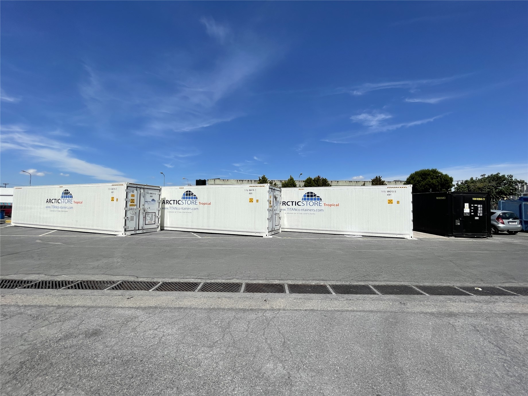 delivery of 3, 40 ft HC Arctic Store Tropical climate controlled storage units, plus a 20ft HotStore.